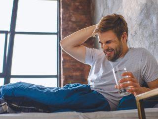 resaca y deshidratación
