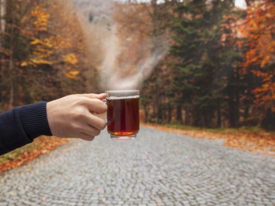 agua para beber té