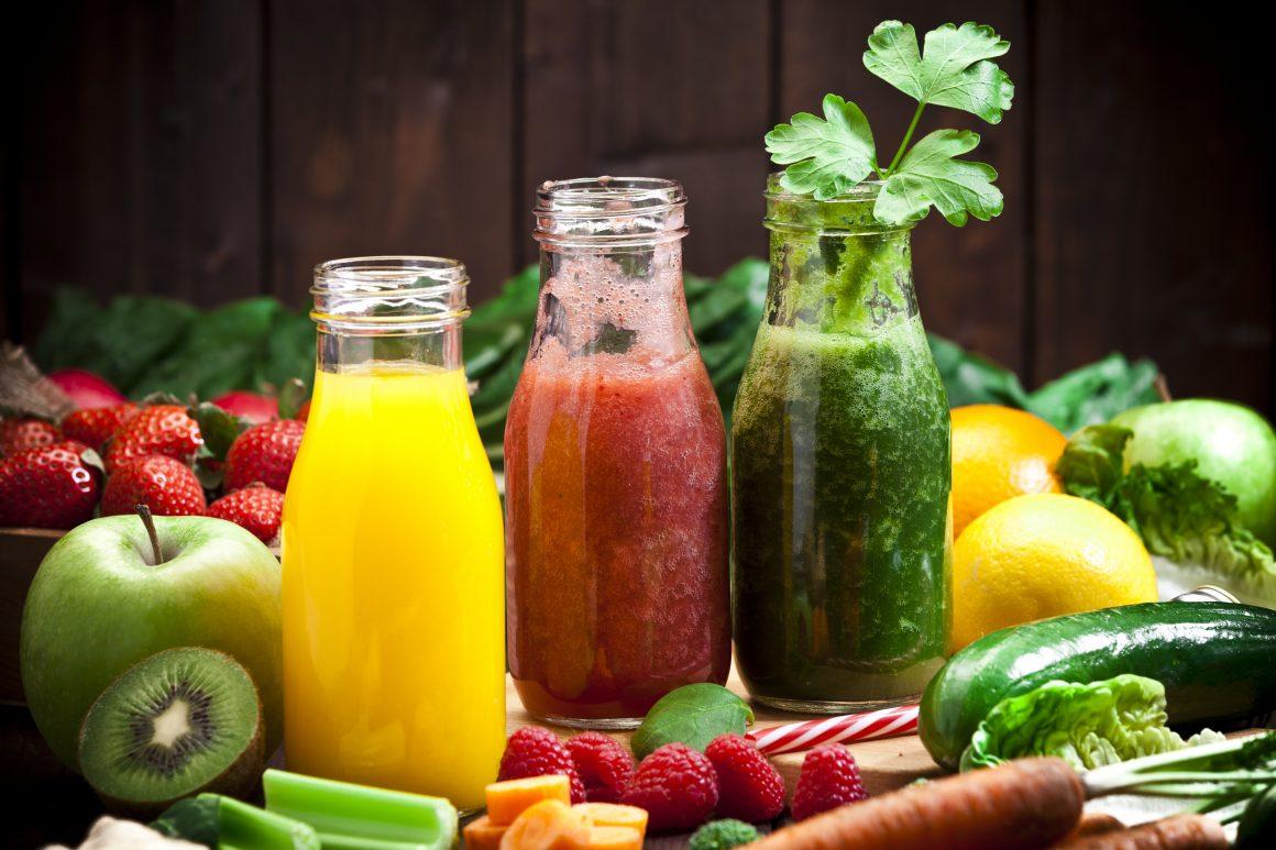 bebidas con frutas y verduras